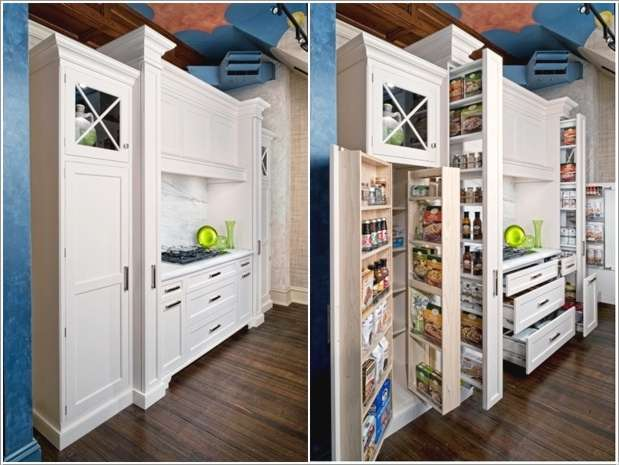 The enchanting Corner kitchen pantry storage ideas photograph