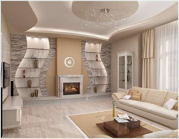Image Via: City Decoration. 2. A Stylish Stone Accent Wall