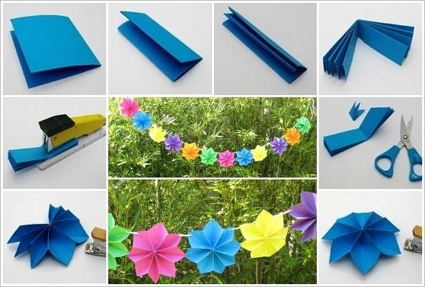 This paper flower garland will make an adorable party decor mightylinksfo