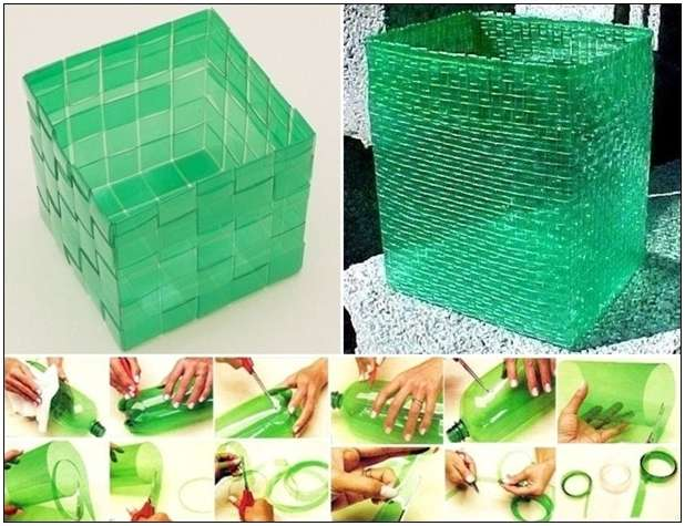 Plastic bottles got recycled into these amazing woven baskets - Recycled interior design ideas ...