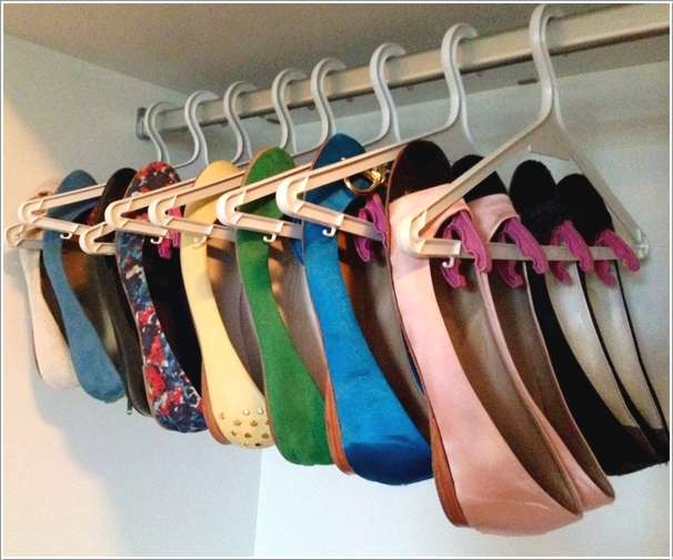 Shoe Organization Hacks: 5 Cool And Creative Organization Hacks Using Cloth Hangers