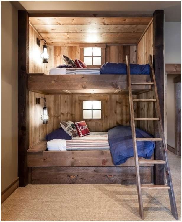 6 amazing bunk bed lighting ideas for your kids room for Bunk bed bedroom designs