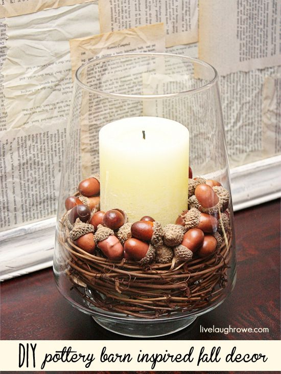 Diy Pottery Barn Inspired Decorative Centerpiece