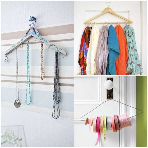 5 cool and creative organization hacks using cloth hangers for Creative clothes hangers