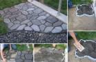DIY Cement Cobblestone  Garden Path!