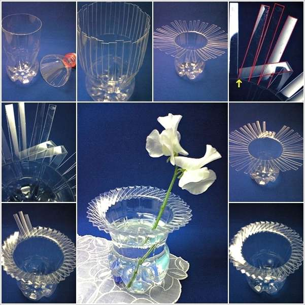 How to Make a Beautiful Vase from Plastic Bottle