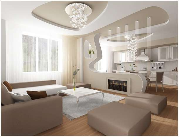 Design Kitchen Combined With Living Room