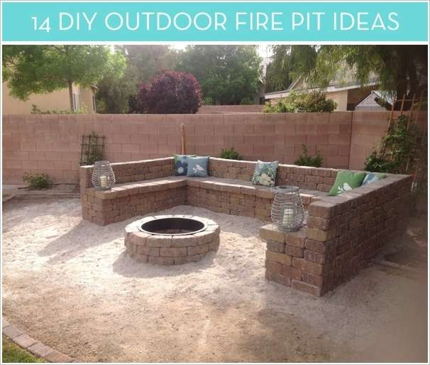 14 diy fire pit ideas for your home - Fire pits for your home ...