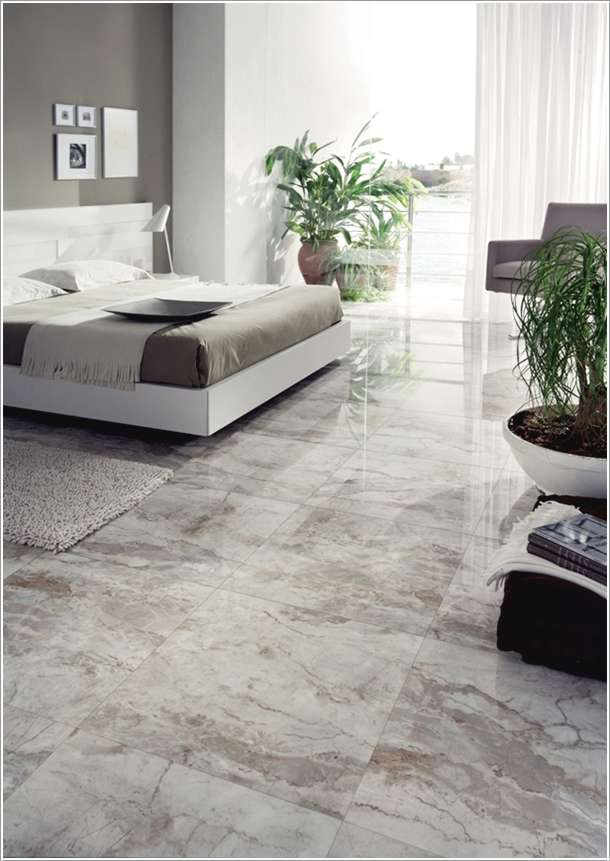 10 amazing bedroom flooring ideas for your home for Bedroom designs tiles