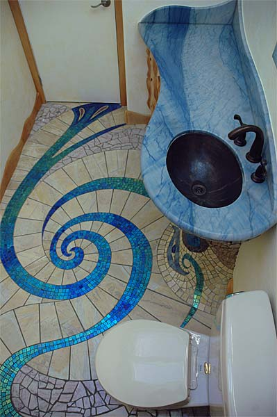 Creative Mosaic Bathroom Design
