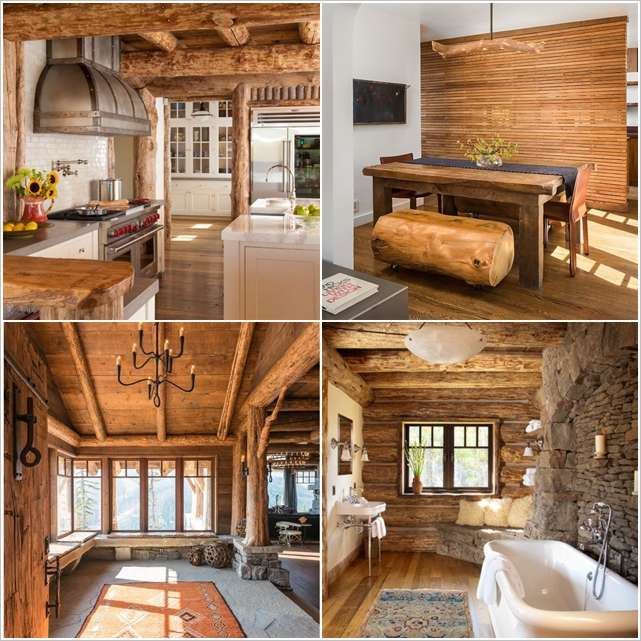 8 amazing log cabin interiors that will make you awestruck for Modern log home interiors