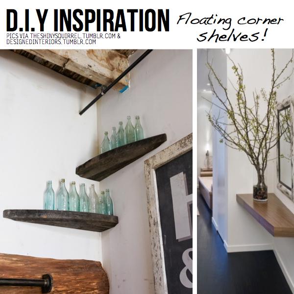 DIY Ingenious Corner Shelves Ideas