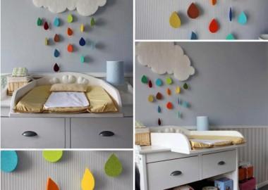 diy-baby-room-decor-rainy-cloud-raindrops-felt-colourful