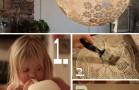 Diy-Paper Lace Doily Lamp