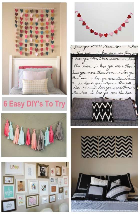 Diy wall art decor ideas for Room decor videos diy