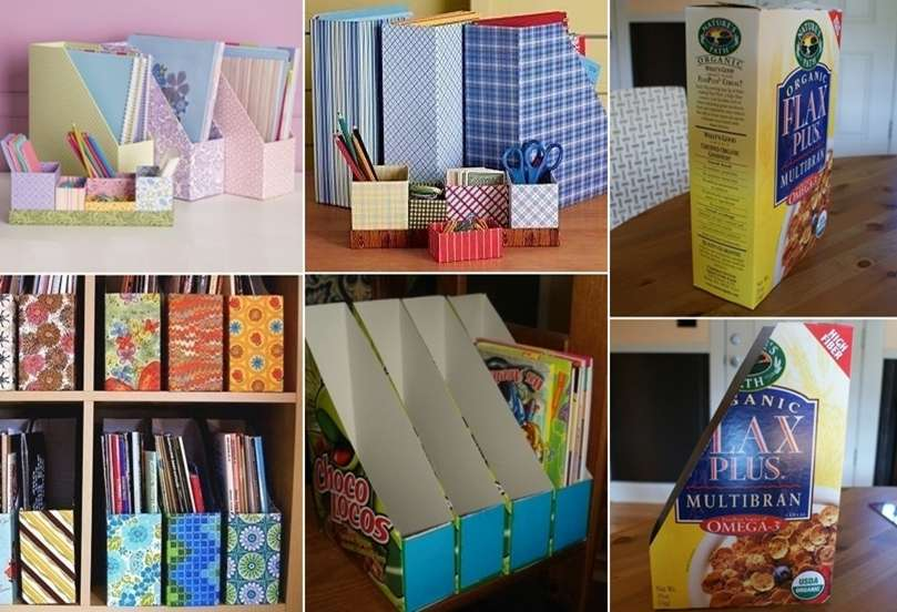 Recycle Cereal Boxes into These Wonderful Organizers