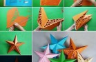 Amazing 3D Paper Star Wall Lamp Idea
