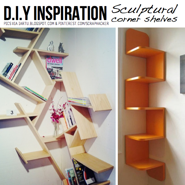 Diy ingenious corner shelves ideas Corner shelf ideas