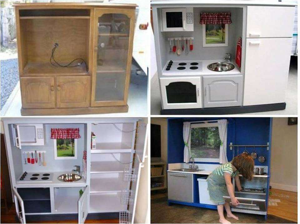 Diy Transform Old Tv Cabinet Into A Play Kitchen