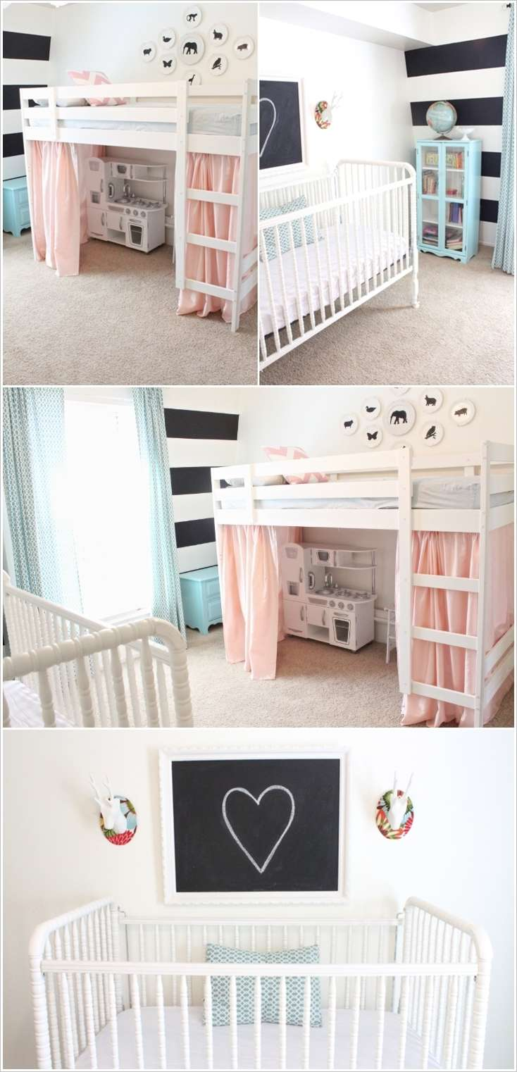 Cute baby and toddler shared room designs urdu planet for Room decorating ideas in urdu