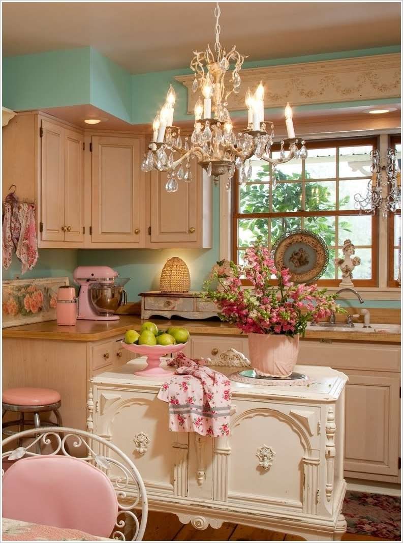 Wall Colour Inspiration: 8 Shabby Chic Kitchens That You'll Fall In Love With