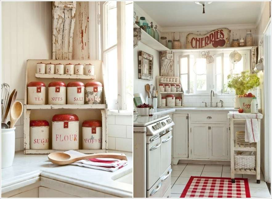 A White Kitchen With Red Accents 8