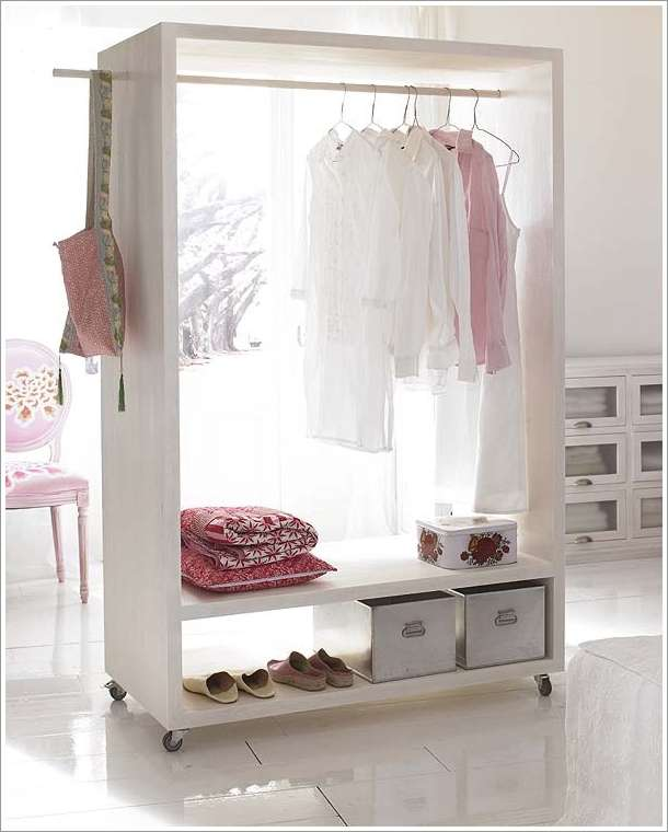 10 amazing open closet designs for your rooms - Armario abierto ikea ...