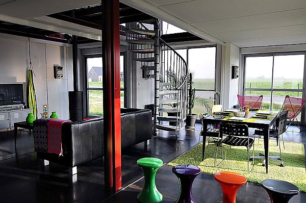 eco house made from shipping containers. Black Bedroom Furniture Sets. Home Design Ideas
