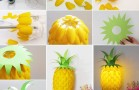 This Plastic Spoon Pineapple Lamp is So Amazing