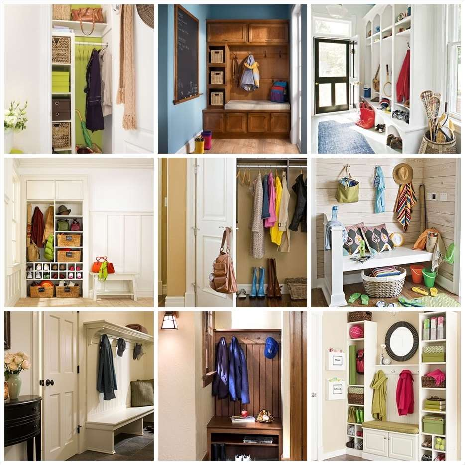 59 awesome hallway storage and organization ideas for Foyer storage ideas