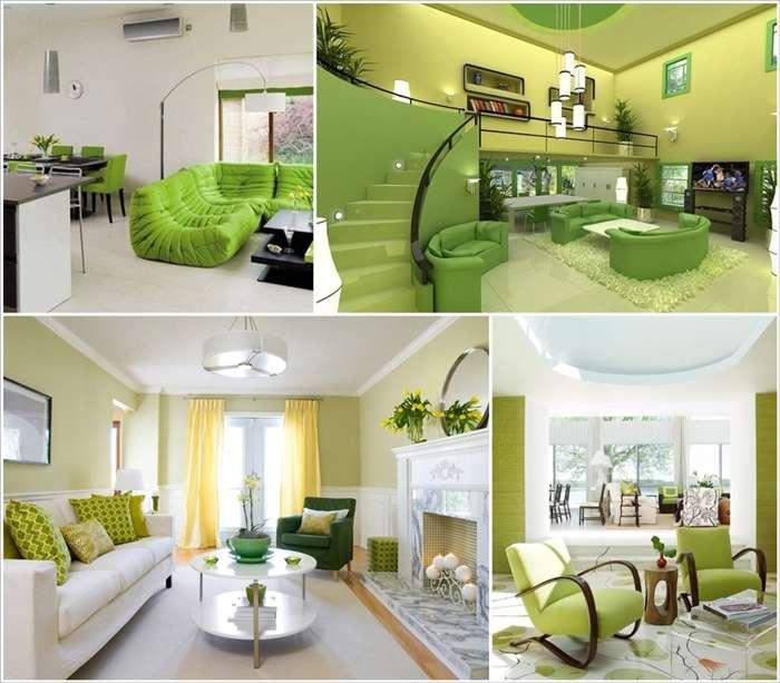 27 green and serene living room designs for Serene living room ideas