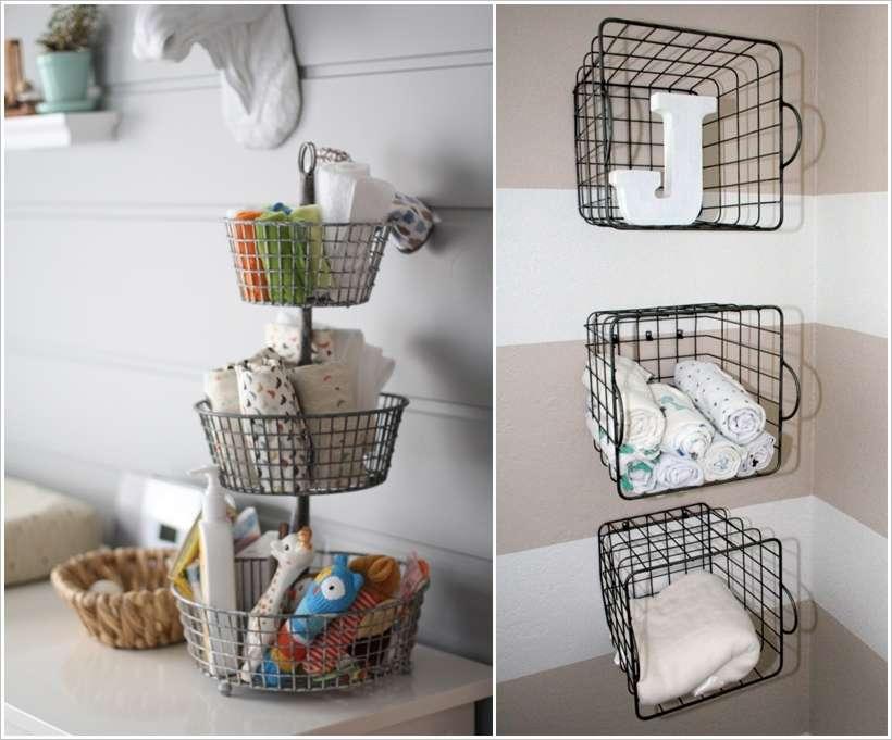 15 Awesome Baby Nursery Storage Ideas 15 Awesome Baby Nursery Storage Ideas  Restaurant Wire Baskets Rethink Kitchen Wire Baskets 12