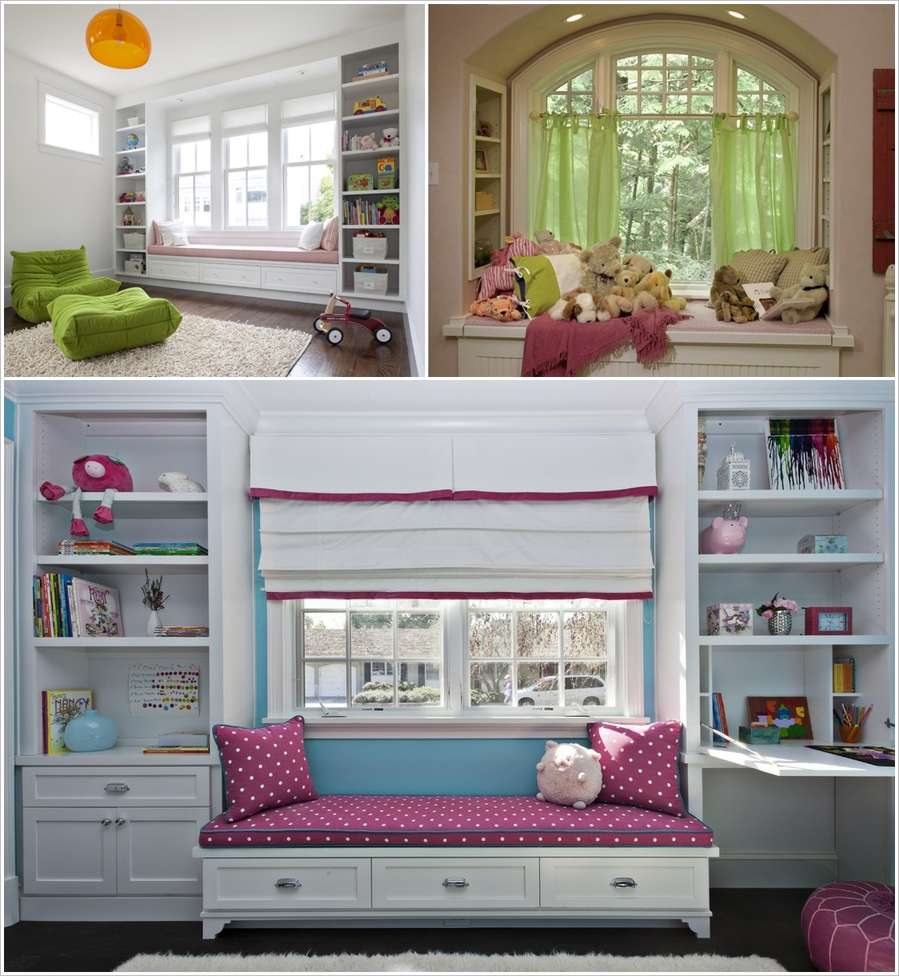 Decorating Ideas 15 Window Seats: 15 Amazing Window Seat Designs For Your Kids Room