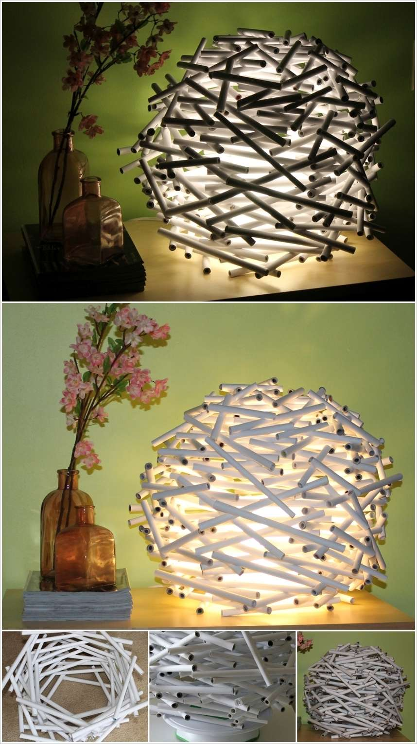 20 amazing diy paper lanterns and lamps for Diy paper lanterns