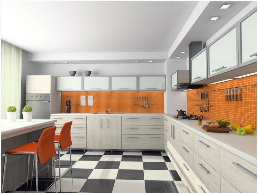 View on the modern kitchen