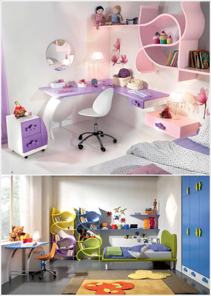 15 creative and cool kids bedroom furniture designs for Quirky bedroom ideas