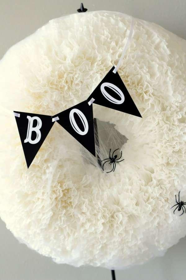BOO-Coffee-Filter-Wreath