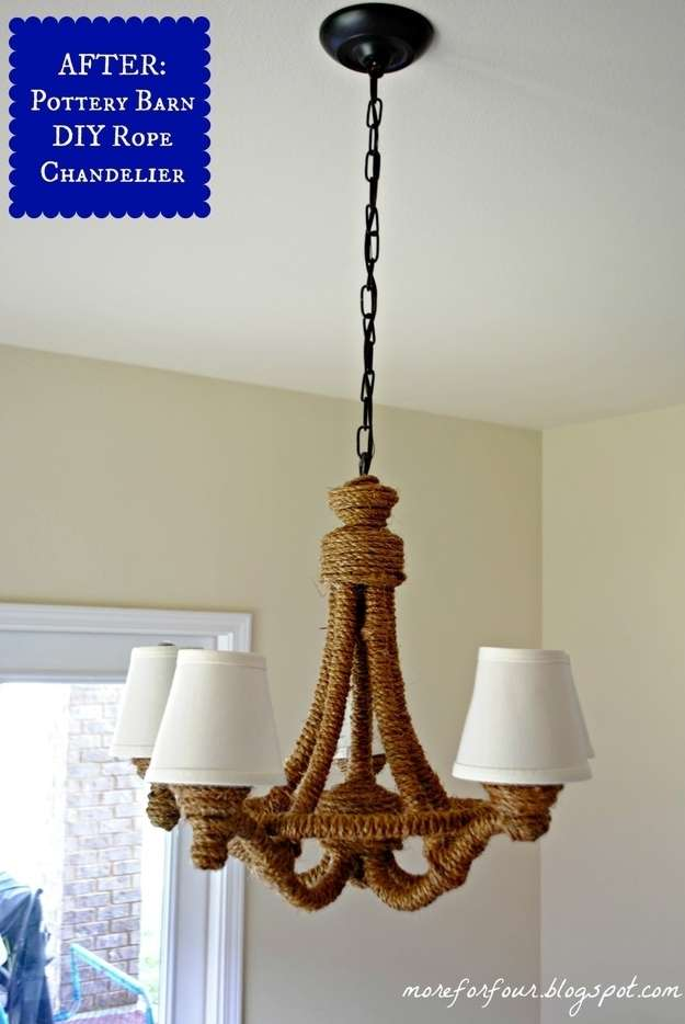 Rope Wraped Chandelier