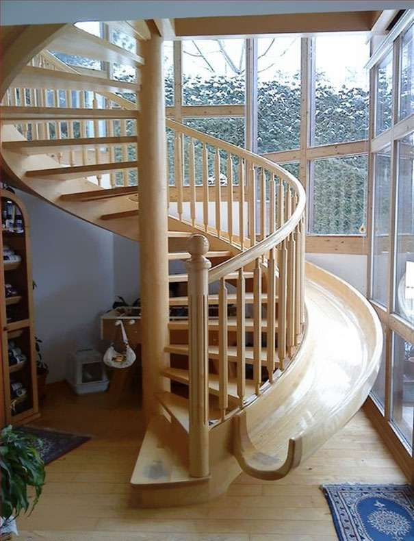 Spiral Slide Stairs