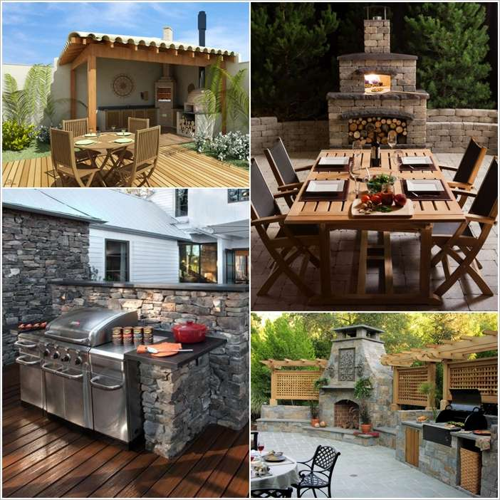 9 Outdoor Patio Kitchens For Party Perfect Entertaining: 10 Amazing Outdoor Barbecue Kitchen Designs