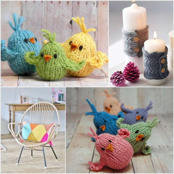 Knitting Household Items : Creative ideas to decorate with knitted items