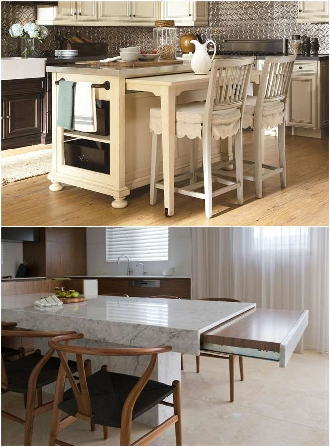 Kitchen Island With Pull Out Table Entrancing Kitchen Island With Pull Out Table  Table Designs