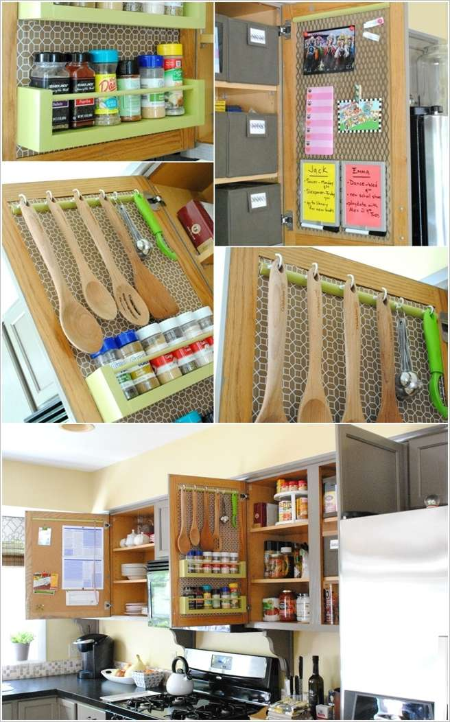10 clever ideas to organize inside your kitchen cabinets for Clever kitchen cabinet ideas
