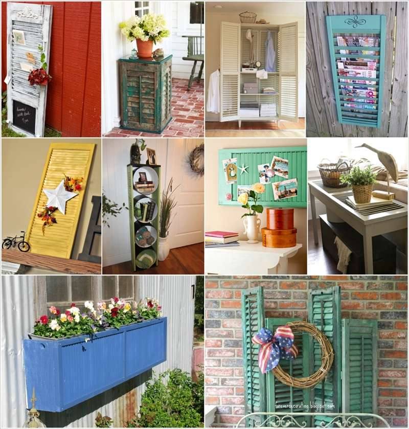 50 creative ideas to recycle old shutters for home decor for House decoration things