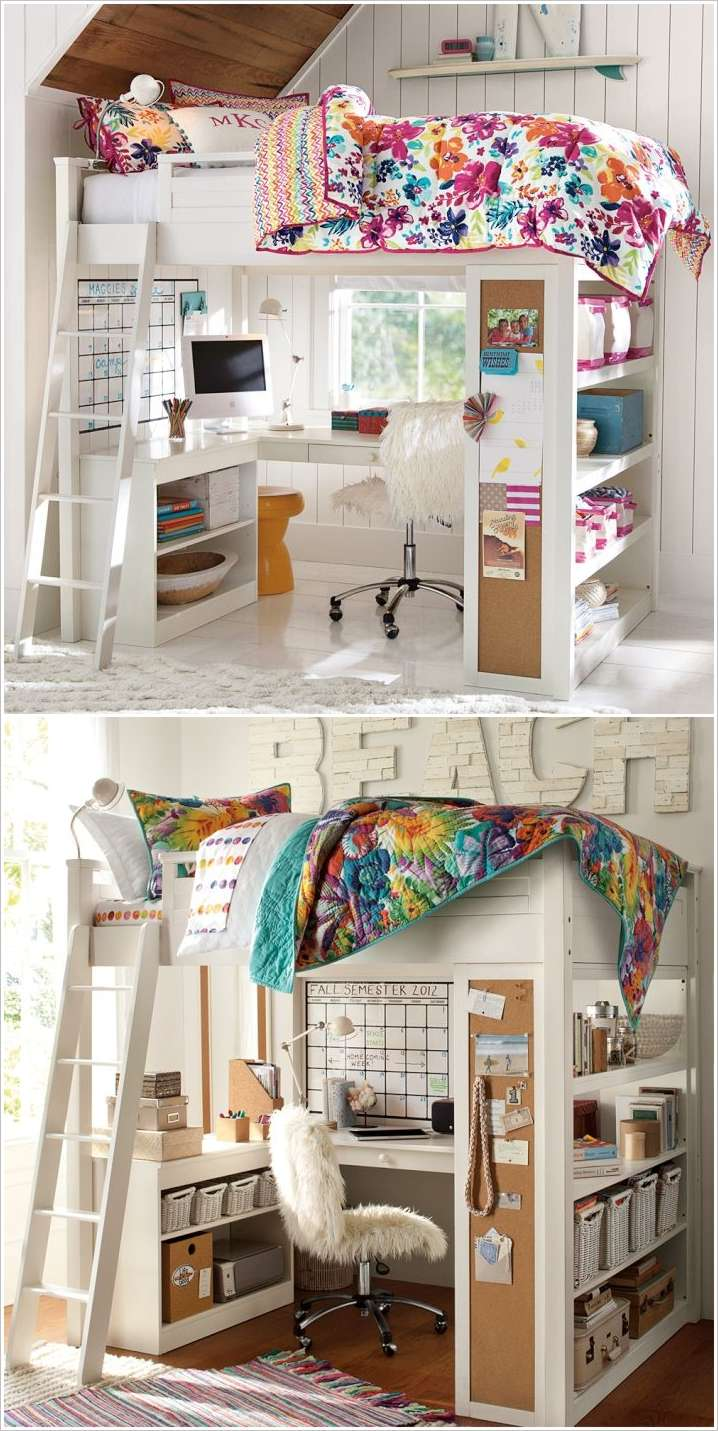 10 Clever Solutions for Small Space Teen Bedrooms on Teenager Small Space Small Bedroom Design  id=25017