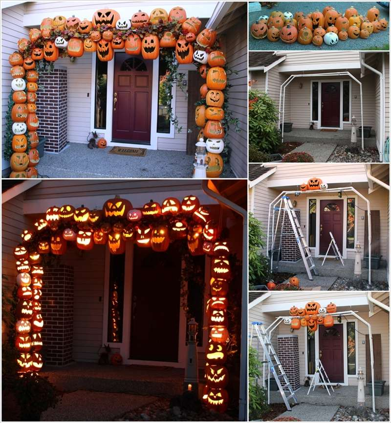 Porch Pictures For Design And Decorating Ideas: Make A Jack-O'-Lantern Arch At Front Entrance This Halloween