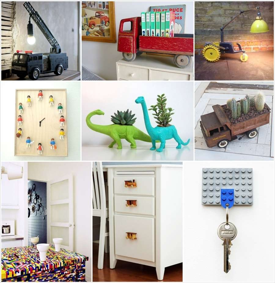 25 Awesome Ideas to Repurpose Old Toys for Home Decor