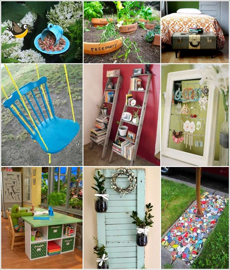 100 ingenious ideas to recycle broken household items for Home decor ideas from recycled materials