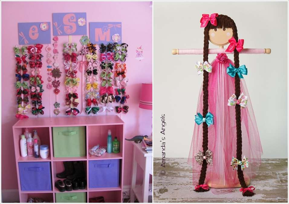 4 Craft Cute Bow Holders For Your Princesses