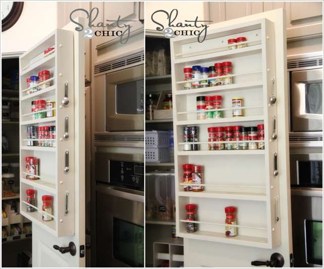 Transform The Pantry Door Into A Spice Rack 5